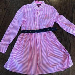 Girls Polo Ralph Lauren Shirtdress